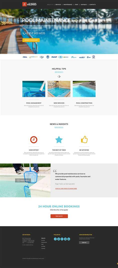 pool maintenance joomla template 51398
