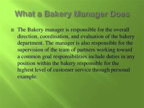 Bakery Manager Salary by Megan L Bakery Manager