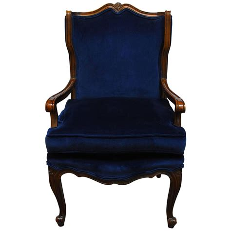 french wing chair french louis xv style velvet wing chair for sale at 1stdibs