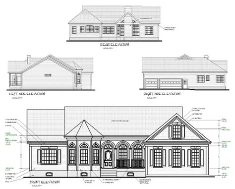 house elevation dimensions house plan 92427 at familyhomeplans com
