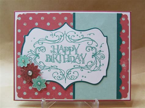 Handmade Birthday Cards - savvy handmade cards happy birthday flourish card