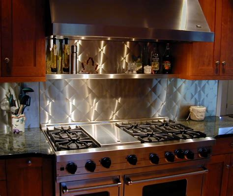 stainless kitchen backsplash backsplashes wall panels custom