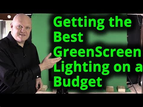 budget green screen lighting how to get the green screen chroma key obs