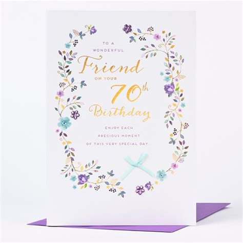 What To Write On 70th Birthday Card 70th Birthday Card Wonderful Friend Only 163 1 49