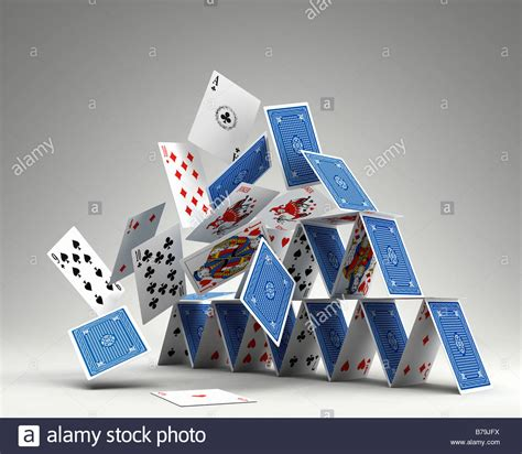 house of cards buy photorealistic 3d render of a house of cards collapsing stock photo royalty free