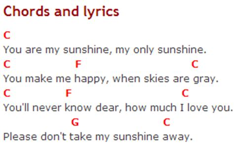 strumming pattern for you are my sunshine ukulele learn quot you are my sunshine quot chords and lyrics best