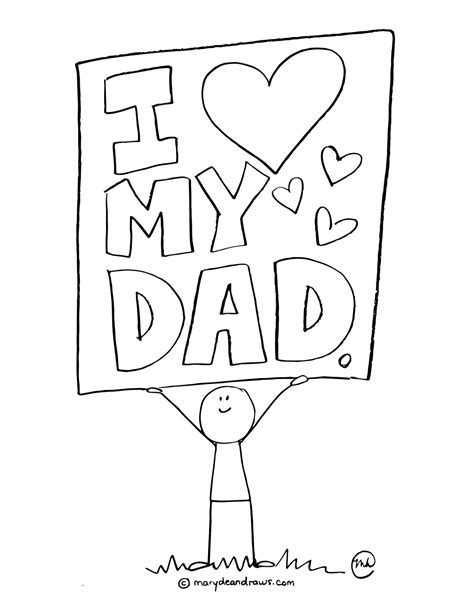 fathers day coloring sheets a s day printable coloring page marydean draws