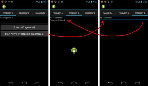 layout xml fragment android er asynctask run in background thread of a