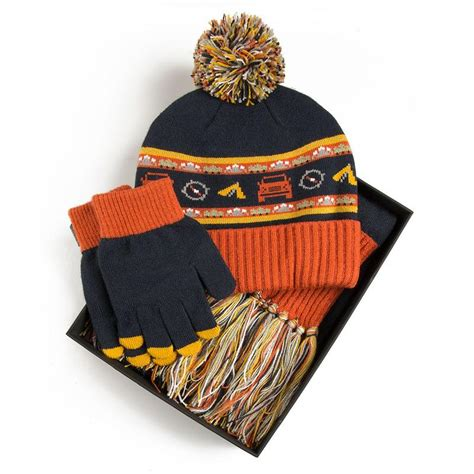 children s hat scarf glove set navy