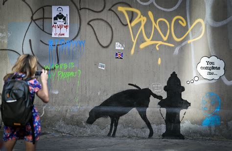 painting new 2013 who is banksy huffpost