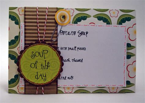 Your Paper Pantry by I Wanna Build A Memory Your Paper Pantry Recipe Card