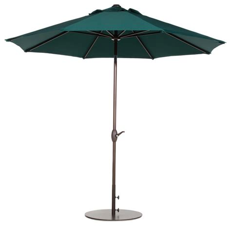 Teal Patio Umbrella Abba Patio 9 Market Outdoor Umbrella With Push Button Tilt And Crank Teal Contemporary