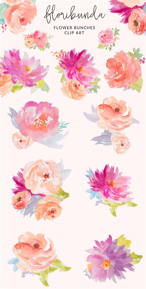 flower design kalender watercolor floral clip art design watercolor flower