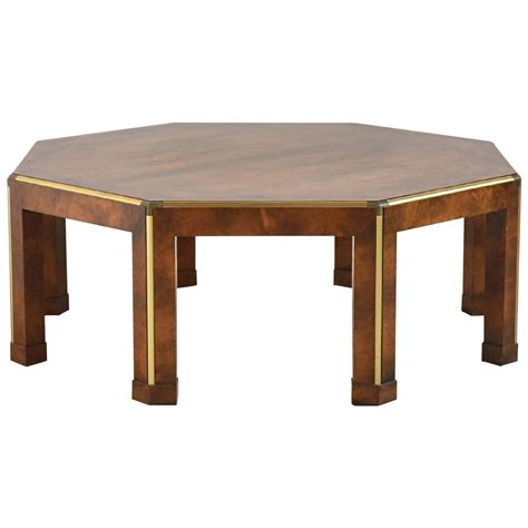 Octagon Coffee Table Baker Octagonal Burled Walnut Coffee Table At 1stdibs