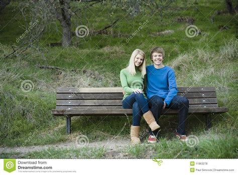 sister company of bench brother and sister royalty free stock photos image 11963278