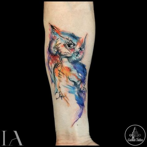 watercolor tattoo years later best 25 watercolor owl tattoos ideas on owl