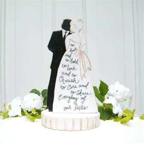 Bride And Groom Silhouette Wedding Cake Topper Wedding