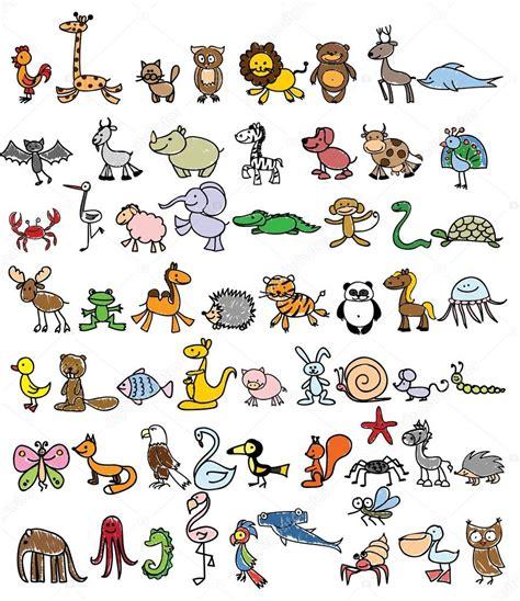 doodle draw animals rysunki zwierząt bazgroły grafika wektorowa