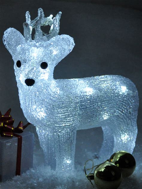 light up reindeer acrylic crystal effect christmas