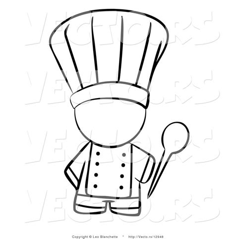 coloring page of a chef hat chef free colouring pages