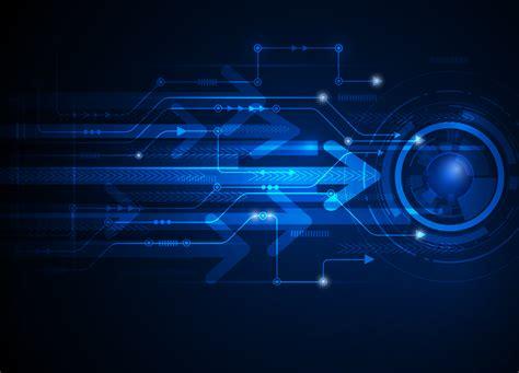 hi tech vector illustration hi tech blue abstract technology