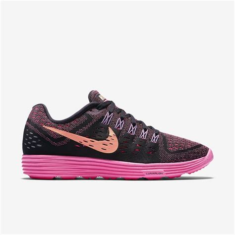 nike womens lunartempo running shoes black pink pow