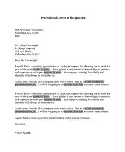 Exle Letter Of Resignation Professional by Sle Letter Of Resignation 9 Exles In Pdf Word