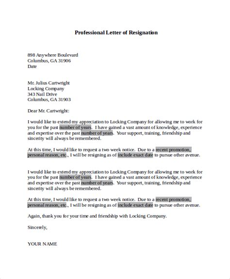 Best Resignation Letter Quora Sle Letter Of Resignation 9 Exles In Pdf Word