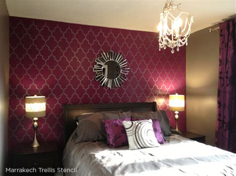 bedroom wall patterns stenciled bedroom ideas worth dreaming over stencil
