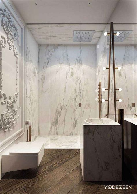 Modern Classic Bathroom by Apartment Blends Modern And Classical Pairfum