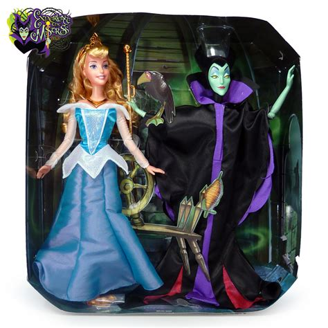 Disney Prncess Signature Collection Sleeping Maleficent Doll Mattel Disney Signature Collection 2 Pack Doll Set