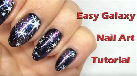 youtube nail art tutorial glitter easy galaxy nails using magpie glitter dusts sting