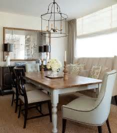 dining rooms with tables farmhouse dining table with wingback settee transitional