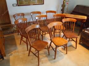 chairs set of 9 kitchen antiques