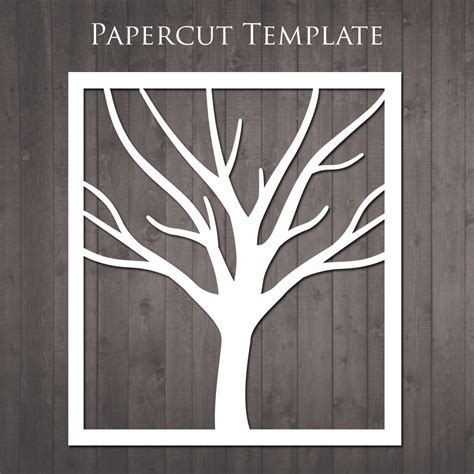 How To Make Paper Cut Out - tree papercut template diy paper cut