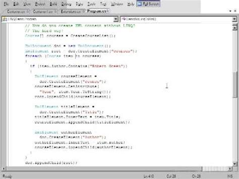 tutorial linq to xml linq using visual c 2008 tutorial linq to xml youtube