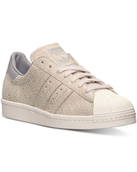 adidas originals s superstar 80s casual sneakers from finish line in gray clear grey