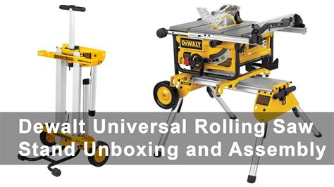 universal table saw stand with wheels dewalt universal rolling table saw stand unboxing and