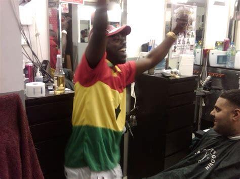 Lu Barbershop Lu Barberpole wins usa is out photos of ghanaians jubilating at lu barbers luton uk