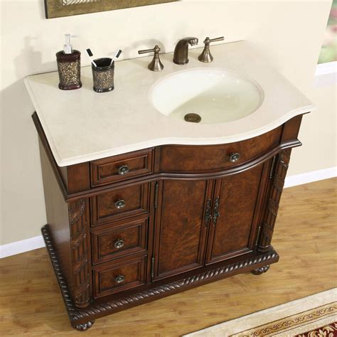 Bathroom Sink Vanity Cabinet by 36 Quot Marble Top Lavatory Bathroom Single Vanity Cabinet