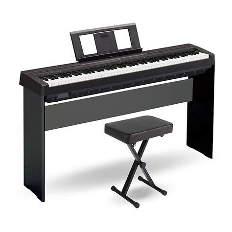 yamaha keyboard stand and bench yamaha p 45 88 key weighted action digital piano black