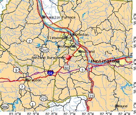 kentucky map ashland ashland rural kentucky ky 41102 profile population