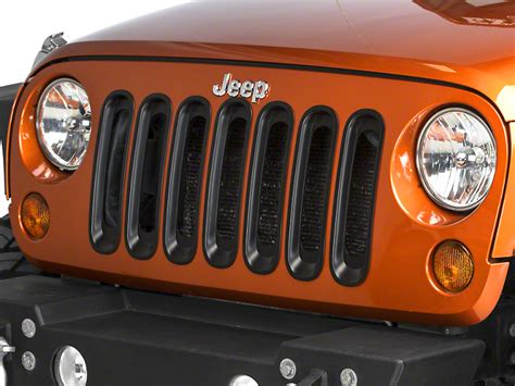 jeep grille inserts redrock 4x4 wrangler grille inserts black j103873 07 17