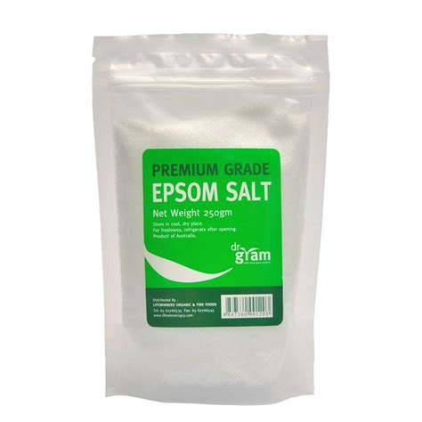 Epsom Salt 250 Gram dr gram epsom salt 250g lifewinners organic foods