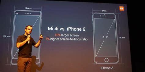 Handphone Iphone 6 Di Indonesia xiaomi bandingkan mi 4i dengan iphone 6 harga handphone