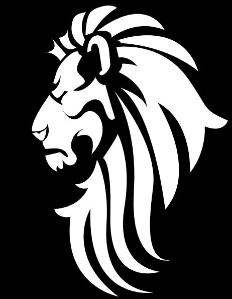 Black And White Designs Lion Head Png Clipart Best