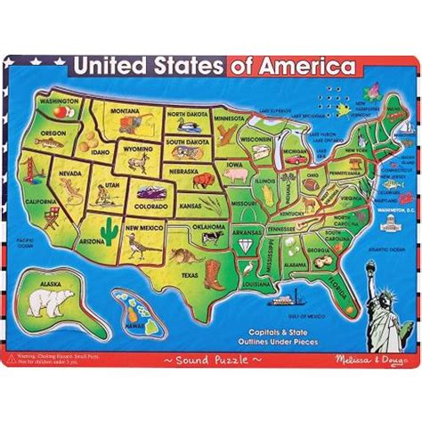 united states map puzzle us states and capitals doug united states of america map puzzle puzzles