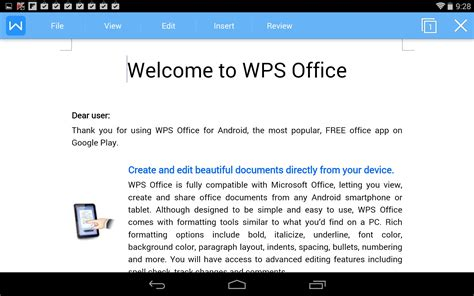 Kingsoft Office Review by Kingsoft Office Soft For Android Free