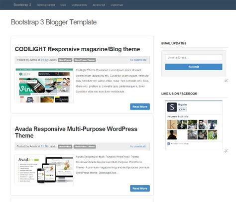 bootstrap 3 responsive blogger template from my blog