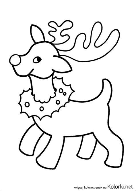 christmas coloring pages for one year olds kolorowanka zima zwierzę renifer boże narodzenia